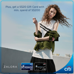 [Citibank ATM] Last 2 weeks to enjoy great deals with your Citi Credit Card at ZALORA, wait no more and get your