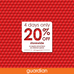 [Guardian] Guardian's 20% STOREWIDE SALE is back!