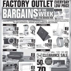 [Harvey Norman] Bargains of the week at HarveyNormanSG Factory Outlet!