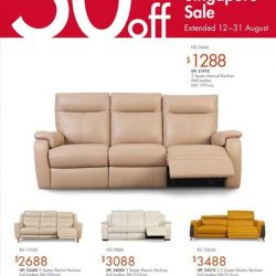 [Sofa Outlet] The Great Singapore Sale Enjoy up to 50%* off store wide.