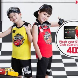 [Bossini Singapore] Exclusive Deal: GV members enjoy 40% off the bossini x Cars 3 collection.