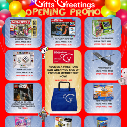 [Gifts Greetings] Here are some of the opening promo available at our new Wisma Atria outlet!