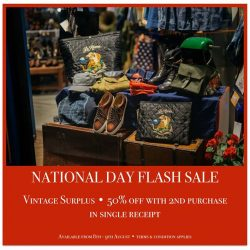 [STRAITS ESTABLISHMENT] VintageSurplus FLASH SALE •As we celebrate our nation's 52nd birthday, what better way than to take 50% off your