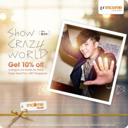 "[NTUC Income Insurance] Bust a groove to Asia's MandoPop Dance King Show Luo (aka Xiao Zhu ""小猪"") in his comeback concert, ""Crazy World"