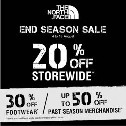 [The North Face] The North Face End Season Sale has commenced!