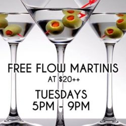 [The Beacon] Tuesday Free Flow Martini for $20++ and 1for1 All Draught Beers & House Pours during Happy Hour