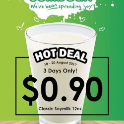 [Jollibean Singapore] 90 CENTS Classic Soymilk up for grabs!