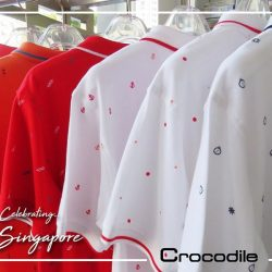 [Crocodile] The Red or White Polo Tees for the Nation Celebration.