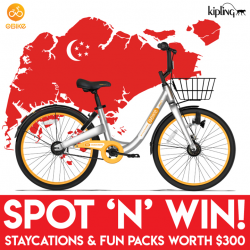 [Kipling] We're proud to join forces with oBike Singapore for their national day contest!