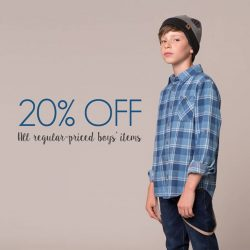 [Fox Fashion Singapore] Enjoy 20% off all boys' items from now till 27 Aug when you shop on www.