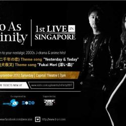 [SISTIC Singapore] Tickets for Do As Infinity 1st LIVE in Singapore goes on sale on 11 August 2017 10am.