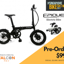 [Falcon PEV] There is so much interest in the NEW EPIQUE Electric Bicycle we just launched at The Singapore Bike Show 2017.