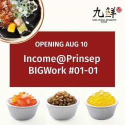[Nine Fresh Desserts Taiwan] Studying or working around Dhoby Ghaut/ Bras Basah area?