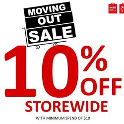 [Miniso] We will be having our moving out sale at Century Square from now till 20 Aug!