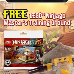 [The Brick Shop] FREE LEGO® NINJAGO® Master's Training Ground when you spend $60 and above on any LEGO® product(s), apart from