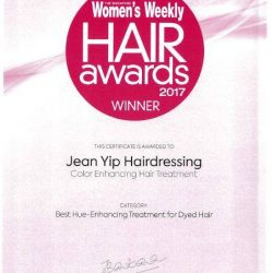 [Enjoy by Jean Yip] We are thrilled to announce that Jean Yip Hairdressing Color Enhancing Hair Treatment is awarded The Singapore Women's Weekly