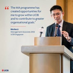 [WTS TRAVEL] Ritchie Li joined the UOB Management Associate (MA) programme in 2006.