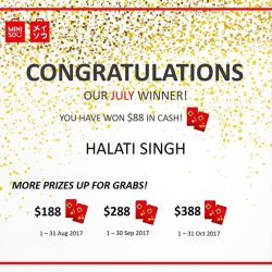 [Miniso] Congratulations to Halati Singh for being the winner of our rewards card lucky draw for the month of July!