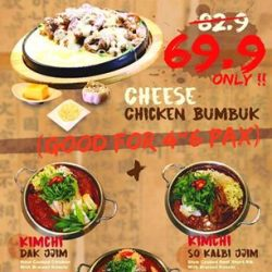 [Kimchi Korean Restaurant] Enjoy the best of Sweet and Savoury in one meal, and get a huge discount at that!