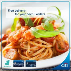 [Citibank ATM] Have you ordered your food via Deliveroo before?