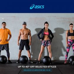 [NEX] It's time to pick up your new gym threads with ASICS latest sale!