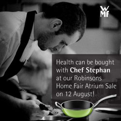 [WMF] Healthy cooking is easy to achieve with NATURamic, especially with Chef Stephan's demonstration on 12 August at Level B1,