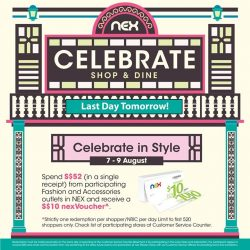 [NEX] Only one more day till the end of our Celebrate in Style promotion!