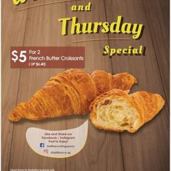 [Delifrance Singapore] Introducing our new Flash deal: 2 French Butter Croissants at $5!