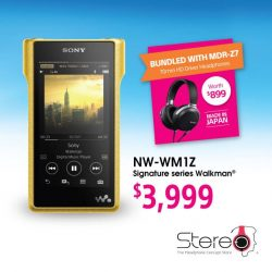[Stereo] Experience a symphony of detail with the Sony NW-WM1Z Signature Series Walkman®; combining sophisticated sound technology with beautifully crafted,