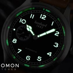 [Gnomon Watches] The Hanhart Pioneer Preventor9 has a 40mm case that is very well balanced on the wrist and sits very comfortably