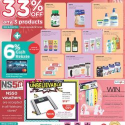 [Watsons Singapore] Enjoy 33% OFF ANY 3 PRODUCTS MIX AND MATCH deals on your favourite picks across participating brands like Greenlife, Ebene