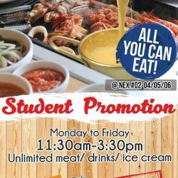 [Daessiksin 大食神] Student promotion at Serangoon nex Daessikisin Korean bbq buffet and Danro Collagen Hotpot Buffet.