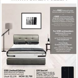 [Sealy Singapore] Get a FREE PosturePremier Success mattress or a FREE corresponding-size bedframe when you purchase any Posturepedic 'ENHANCE' mattress in