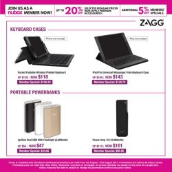 [Nübox] This August, enjoy up to 20% off Premium Accessories by iFrogz, mophie & ZAGG.