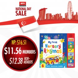 [MPH] In conjunction with the National Day of Singapore, we're treating MPH Readers' Circle (MRC) members to 20% OFF STOREWIDE (