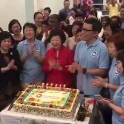 [Polar Puffs & Cakes Singapore] Polar is privileged to design a customised cake for Singapore Nurses Association - SNA for their 60th Anniversary and celebration for