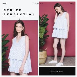 [Hollyhoque] When stripe unites with a figure-flattering design, a wardrobe investment emerges.