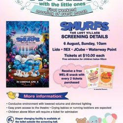 [Shaw Theatres] Join us for Movies with the Little Ones on 6th August!