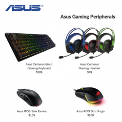 [Newstead Technologies] Calling all gaming friends, new arrivals from Asus gaming peripherals now available at Newstead & Digital Style stores!