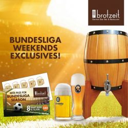 [Brotzeit German Bier Bar and Restaurant] NEW Bundesliga Weekends Exclusives at Brotzeit Raffles City!