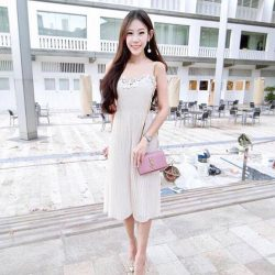 [MDSCollections] One Piece, Full Outfit   @freeflowclass in the Crochet Lace Pleated Jumpsuit