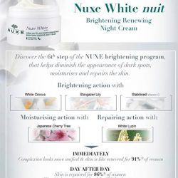 [Beauty By Nature] Brightening Renewing Night Cream Nuxe White All skin types Night care that helps diminish the appearance of dark spots, moisturizes