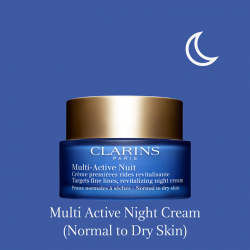 [Clarins] NEW Multi-Active - the perfect day and night skincare duo that targets the first signs of ageing.
