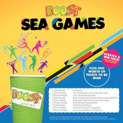 [Boost Juice Bars Singapore] Join the game and win 9 GOLDS for a FREE BOOST!