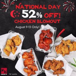 [CHICKEN UP] Celebrate freedom at Chicken Up this National Holiday with our delectable fried chicken creations at 52% OFF!