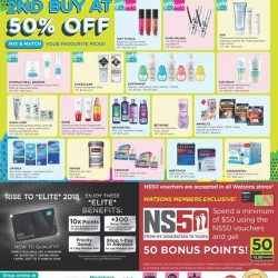 [Watsons Singapore] Enjoy 2ND BUY AT 50% OFF, MIX & MATCH Your FAVOURITE PICKS across participating brands like Wet n Wild, SVR and