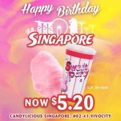 [Candylicious] Make it the sweetest celebration with the fluffiest Sweet Party Cotton Candy.