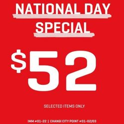 [Changi City Point] In celebration of Singapore's 52nd birthday, PUMA is offering a special $52 promotion for selected items in their outlet!