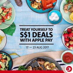 [OCBC ATM] Enjoy S$1 dining deals simply by paying with your OCBC Card on Apple Pay.