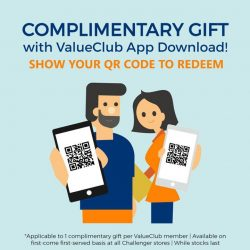 [CHALLENGER MINI] Never lose track of your rewards and rebates ever again with the ValueClub App.